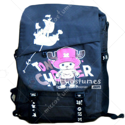 One Piece Chopper Print Dark Blue School Bag