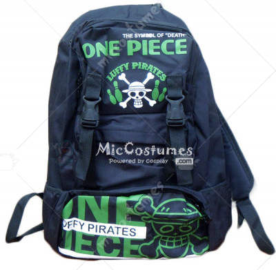 One Piece Green Luffy Print Backpack