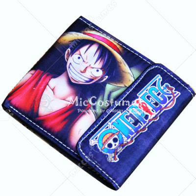 One Piece Luffy Ace Bifold Wallet Blue