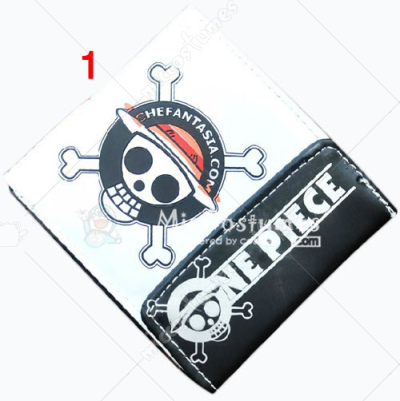 One Piece Luffy Bifold Snap Fastener Wallet