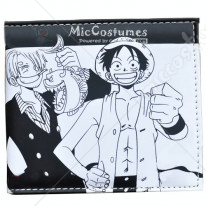 One Piece Luffy Shanks Bifold Wallet Black