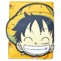 One Piece Luffy Trifold Wallet Yellow