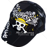 One Piece Pirates Cap Black