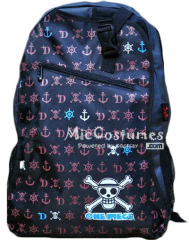 One Piece Purple Skeleton Marks Backpack