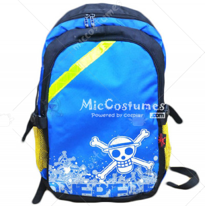 One Piece Straw Hat Luffy Blue School Bag
