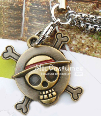One Piece Straw Hat Skeleton Mark Phone Chain
