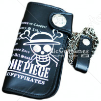 One Piece Straw Luffy Bifold Snap Fastener Wallet