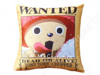 One Piece Wanted Chopper Yellow Pillow