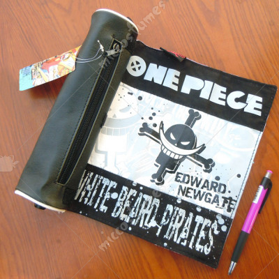 One Piece White Beard Pirates Scroll Pencil Bag
