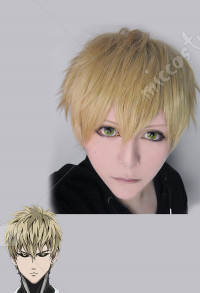 One Punch Man Demon Cyborg Genos Cosplay Wig