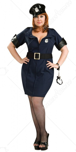 Officer Law Adult Plus Costume
