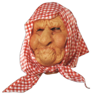 Old Lady w Scarf Mask