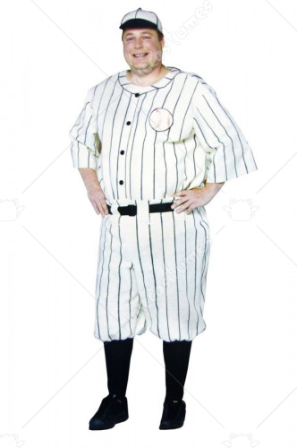 Old Tyme Baseball Player Plus Size Adult Costume