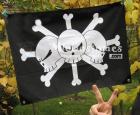 One Piece Blackbeard Pirates Flag