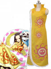 One Piece Boa Hancock Yellow Cosplay Cheongsam