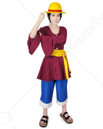 One Piece New World Monkey D Luffy Cosplay Costume