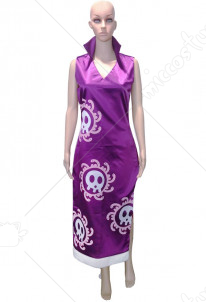 One Piece Marineford Boa Hancock Cosplay Cheongsam