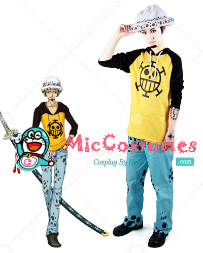 One Piece Heart Pirates Trafalgar Law Cosplay Costume