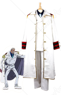 One Piece Monkey D Garp Navy Cosplay Uniform