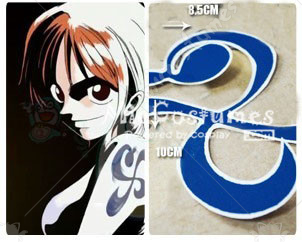One Piece Nami Cosplay Tattoo Sticker