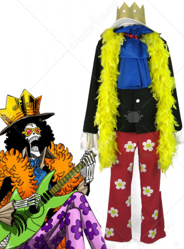 One Piece New World Brook Cosplay Costume