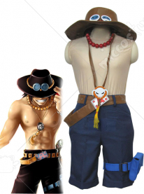 One Piece Portgaz D Ace Brown Cosplay Costume