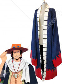 One Piece Portgaz D Ace Red Cosplay Coat