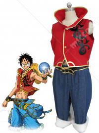 One Piece Shippuden D Luffy Cosplay Costume