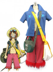 One Piece Strong World Monkey D Luffy Cosplay Costume Set