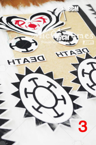 One Piece Trafalgar Law Cosplay Tattoo Sticker