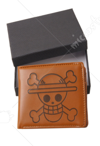 One Piece Luffy Bifold Wallet Brown