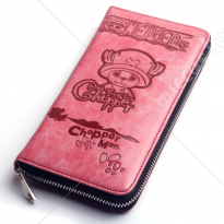 One Piece Chopper Long Pink Wallet