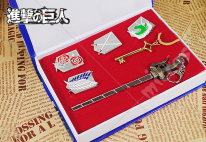 Attack on Titan Badge set Key Necklace Sword