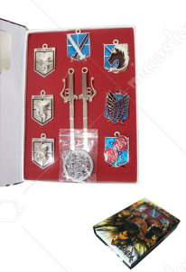 Attack on Titan Necklace Pendant Set