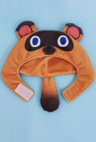 Animal Crossing Tom Nook Tanukichi Raccoon Dog Face Mask Pets Photo Prop Cosplay Hooded Hat Costume for Cats and Dogs