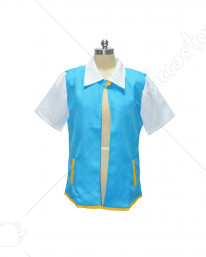Pokemon Ash Ketchum Trainer Coat Jacket Costume Tops