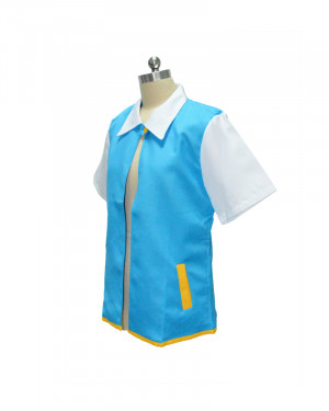 Pokemon X And Y Ash Ketchum Trainer Coat Jacket Costume Tops