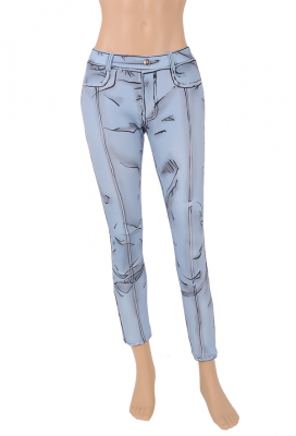 Cel Shaded Style Jeans Pants Manga Comic Cosplay inspired by Borderlands