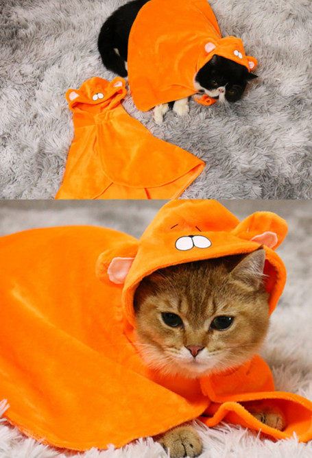Pets Costume Himouto Umaru Chan Cute Plush Cat Hooded Cloak for Winter