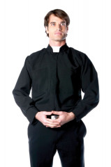 Priest Shirt Mens One Size Adult Costume