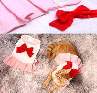 Pets Costume Pink Sailor Moon Usagi Tsukino Cats Costume JK Uniform Pet Costume for Small Dogs