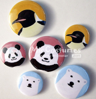 Panda Bear Penguin Badge For Shirokuma Cafe