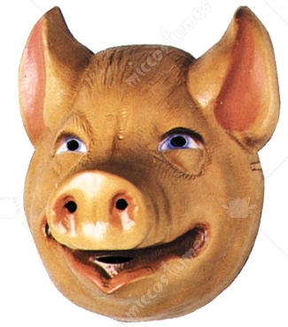Pig Mask Plastic Childs