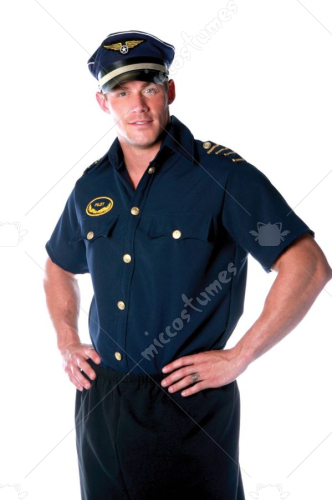 Pilot Shirt Mens One Size Adult Costume