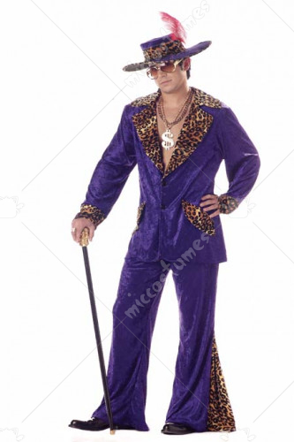 Pimp Adult Purple Large He Adult Costume