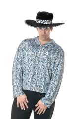 Pimp Shirt Silver Adult Costume