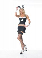 Pinstripe Bunny Gangster Adult Costume