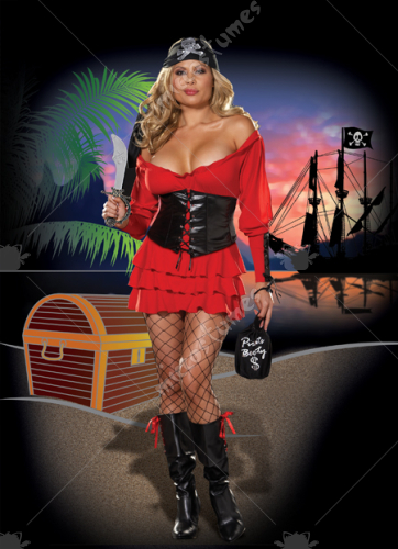Pirate Wench Adult Plus Costume