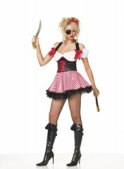 Pirate Wench Halter Dress Sexy Adult Costume