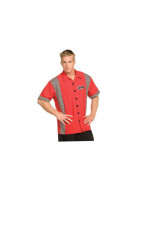 Pit Crew Shirt Red Extra Large Adult Costume